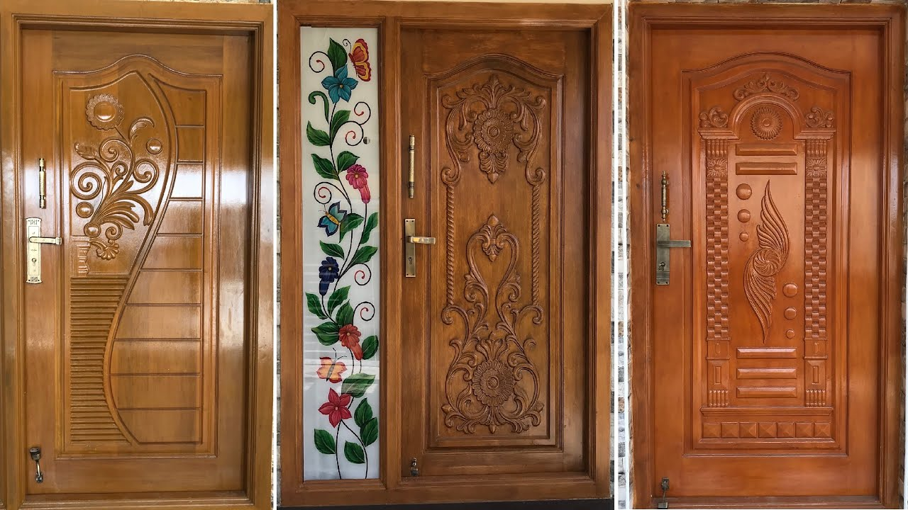Wood Carving Door Design Top Modern Teak Wood Main Door Designs In 2020 Youtube
