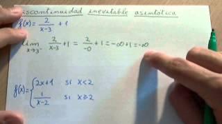 Discontinuidad inevitable asintótica (discontinuidad de salto infinito)