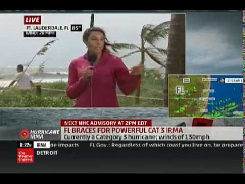Hurricane Irma hits Florida, Sarah Rosario reports for The Weather Channel