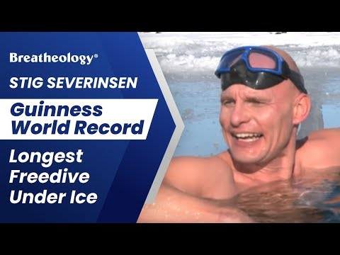 Stig Severinsen - Guinness World Record - Longest Freedive Under Ice (236 feet) - in SPEEDOS!