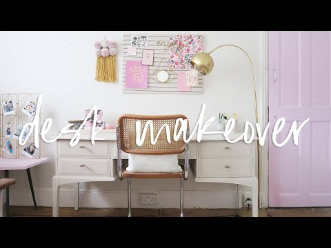 Desk Makeover & DIY Home Decor | Upcycled Furniture and Homeware for my Office | ad