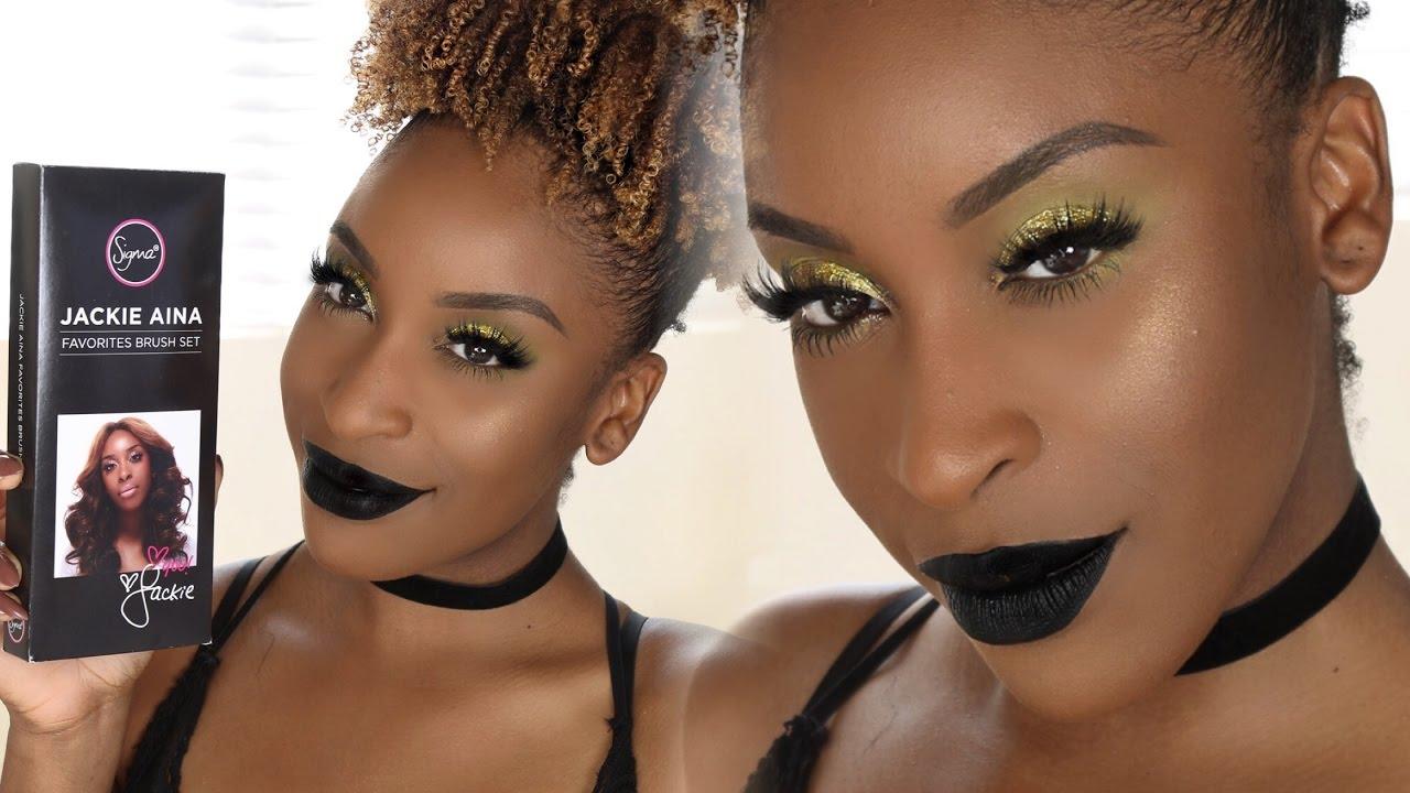 My Sigma Brush Set Hair Makeup Tutorial Jackie Aina