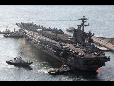 Two Nuclear Powered Nimitz Class Aircraft Carriers Action In Philippine Sea