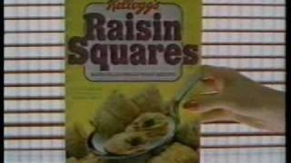 1984 Kellogg's Raisin Squares Cereal Commercial