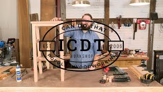 How to Make a Mortise and Tenon Shop Stool | I Can Do That!