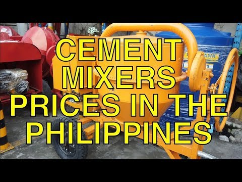 Cement Mixers, Prices In The Philippines.