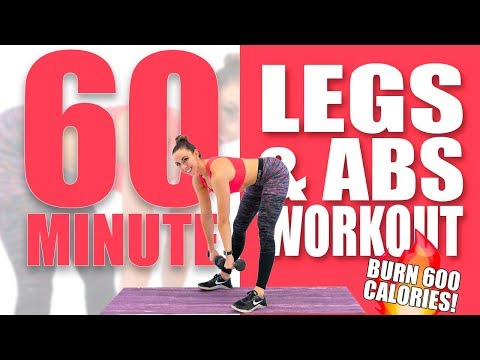 60 Minute Legs and Abs Workout ��Burn 600 Calories! ��Sydney Cummings