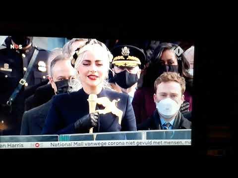 Lady Gaga inauguratie Joe Biden