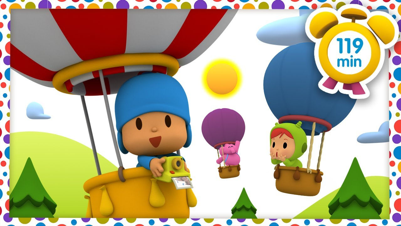 🌈 POCOYÓ en ESPAÑOL - Paseo en globo aerostático [119 min] CARICATURAS y DIBUJOS ANIMADOS para niños