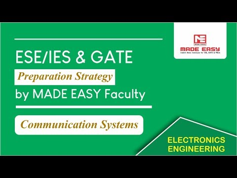 ESE/IES & GATE Preparation Strategy For Communication Systems