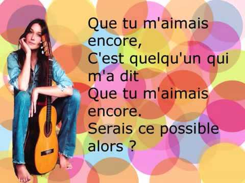 Quelqu´un m´a dit - Carla Bruni with lyrics...