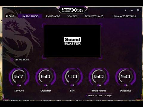 Sound Blaster X-FI driver CD setup free