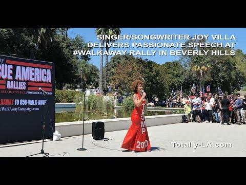 Singer Joy Villa Delivers Passionate Speech at #WalkAway Rally