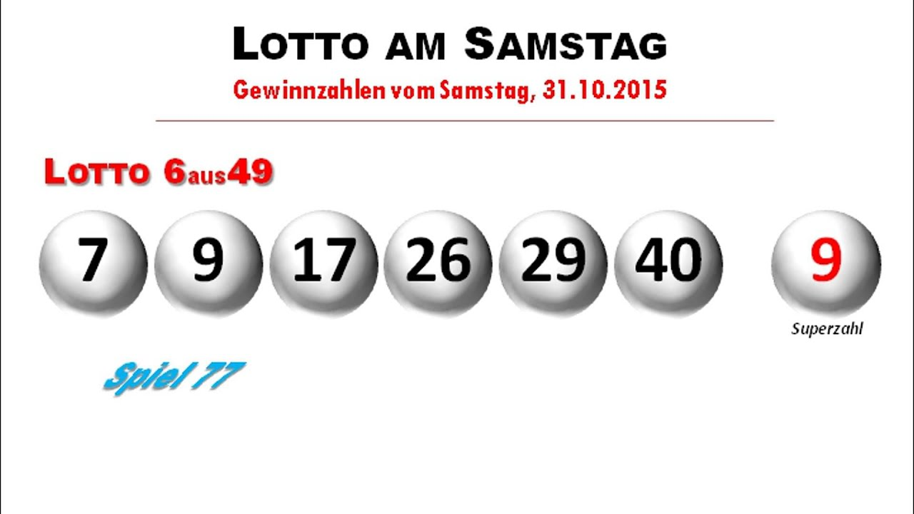Lotto Am Samstag Ziehung Live