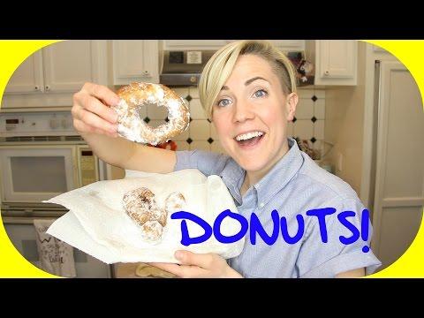 MY DRUNK KITCHEN: Super Easy Donuts!