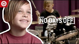 7-Year-Old Is STUNNING On The Drums | No Days Off