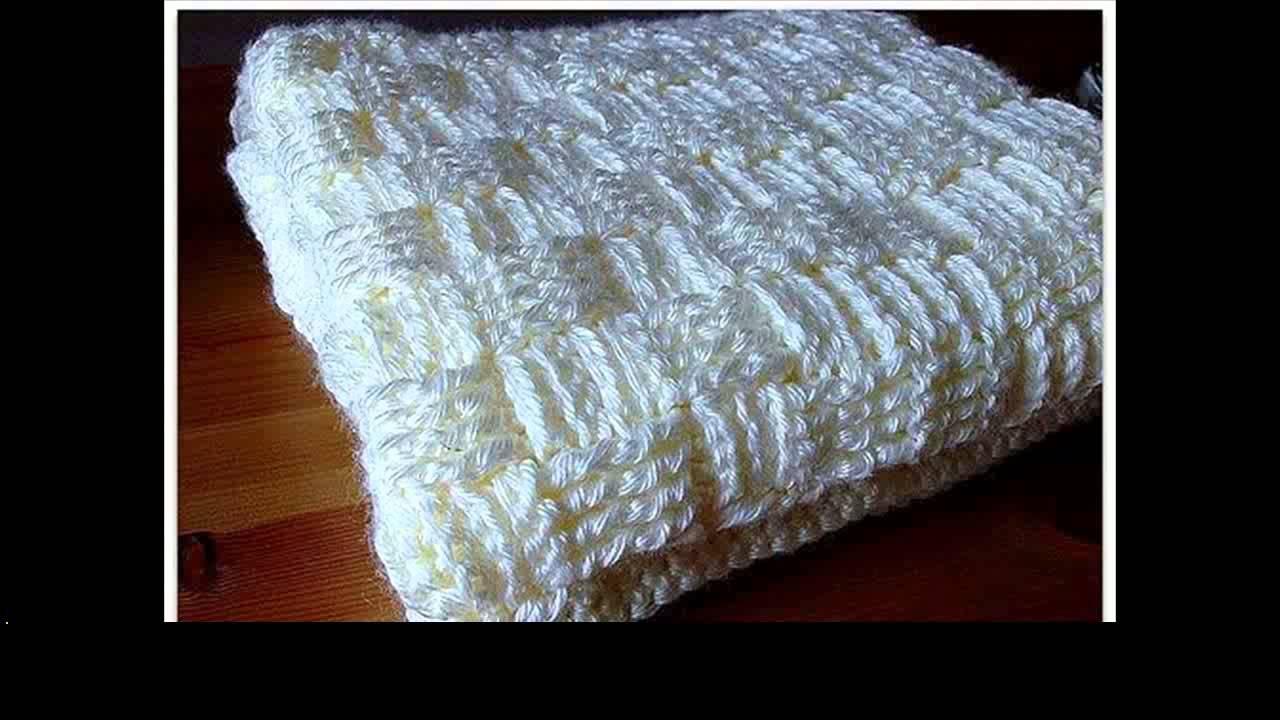 Double Crochet Baby Blanket Youtube
