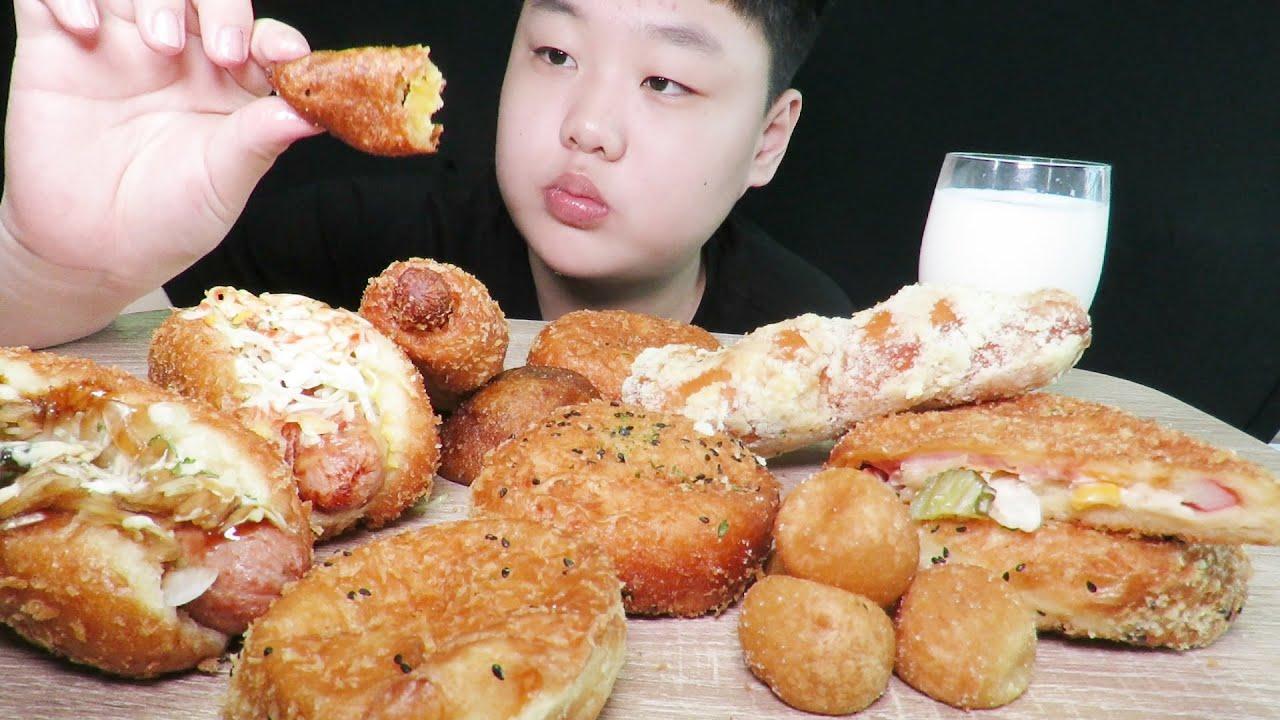핫도그,고로케,빵 먹방asmr (송사부고로케)//bread mukbang Brot bánh mì хлеб pão パン