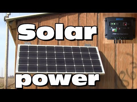 Solar power- a small starter setup