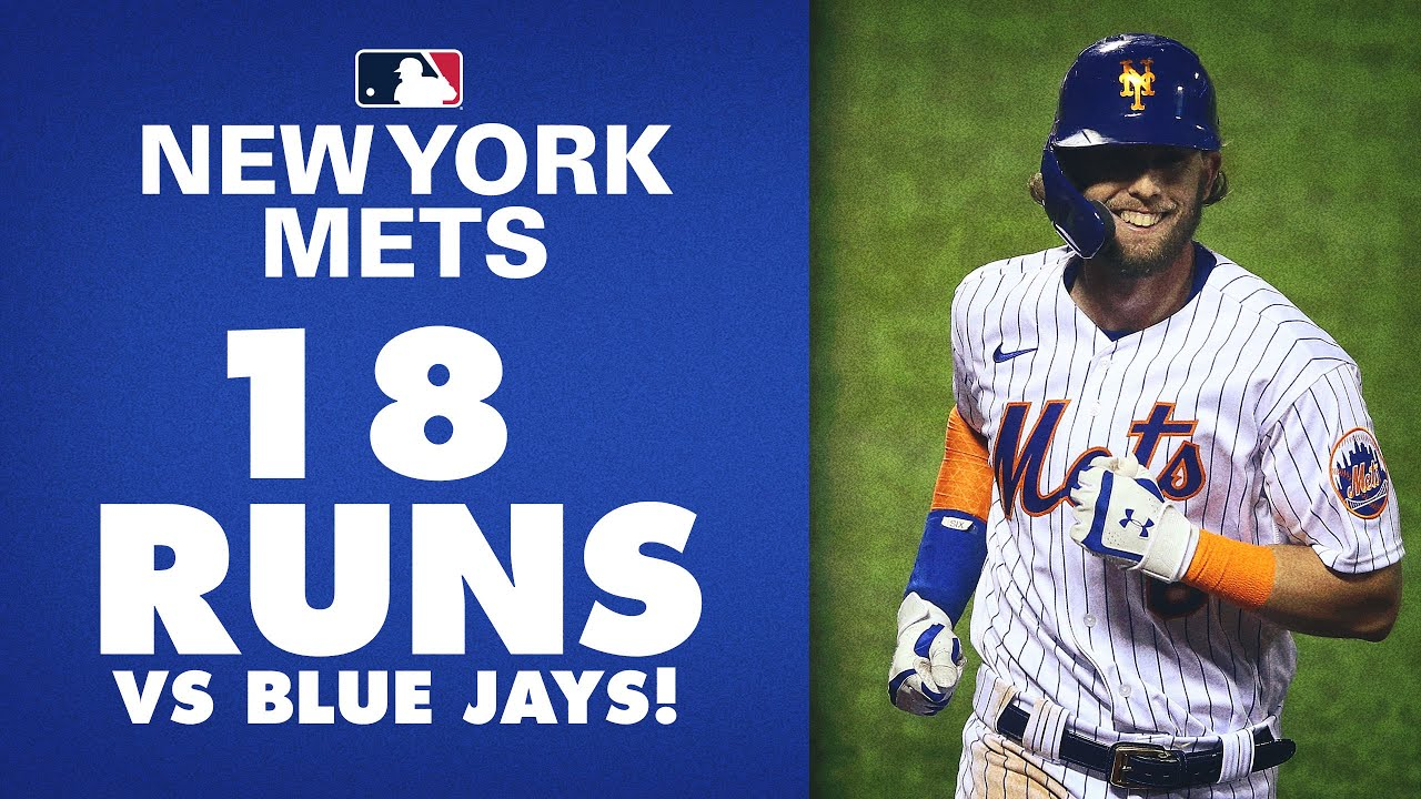 18 RUNS! Mets almost put up 20 in matchup vs. Blue Jays