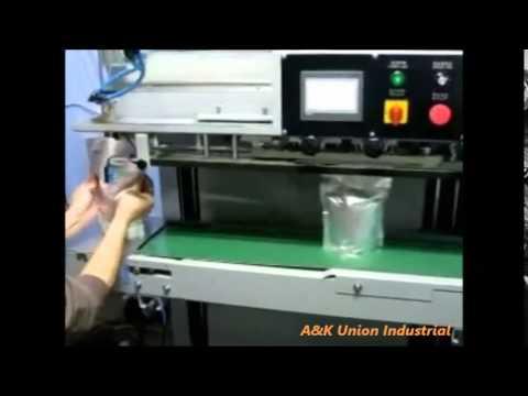 Vacuum band sealer, vertical type, continuous vaccum sealer UCV-903XV A&K Union Industrial