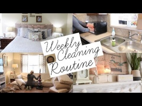 Weekly Cleaning Routine 2017 | Stay at Home Mom