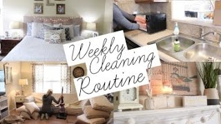 Weekly Cleaning Routine 2017   Stay at Home Mom