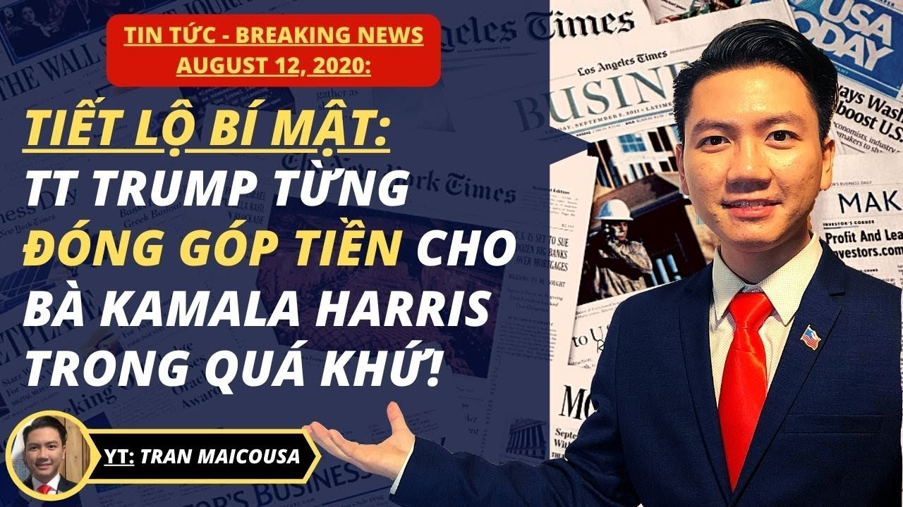 #332 12AUG20: TT TRUMP TỪNG CHO KAMALA HARRIS $6,000 ĐỂ TRANH CỬ!