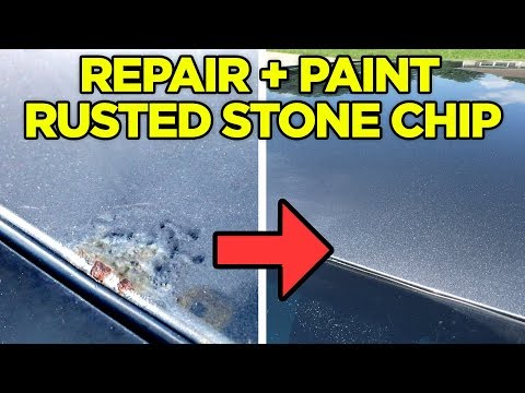 How to Fix: Rust Bubble Under Paint from a Rock Chip Around WIndshield