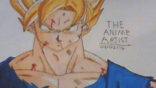 Speed Drawing- Super Saiyan Goku Dragon Ball Z