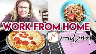 MY WORK FROM HOME ROUTINE 💻 HOMEMADE PIZZA! 🍕 FULL TIME WORKING MOM DAY IN THE LIFE