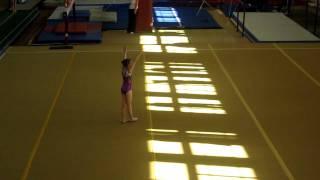 Аня, спортивная гимнастика, вольные упражнения (25.05.2011)