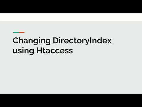 Directory Index using Htaccess