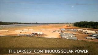 Simon Solar Farm Time Lapse - largest Solar Power Plant in the eastern US