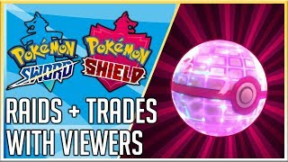 GMax Snorlax Raids + Trades with Viewers - Pokemon Sword and Shield - Live