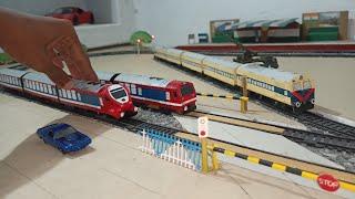 Indian DEMU 🚇Toy Train Model    Handmade🔥Demu local train toy    Long Demu train of Railking & Centy