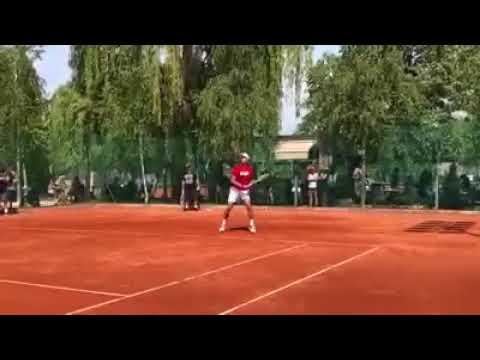 Novak Djokovic practice mutua madrid 2018