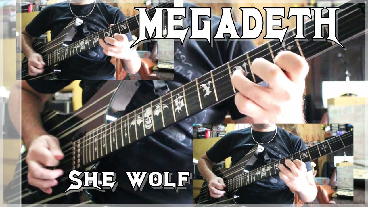 how to play she wolf by megadeth