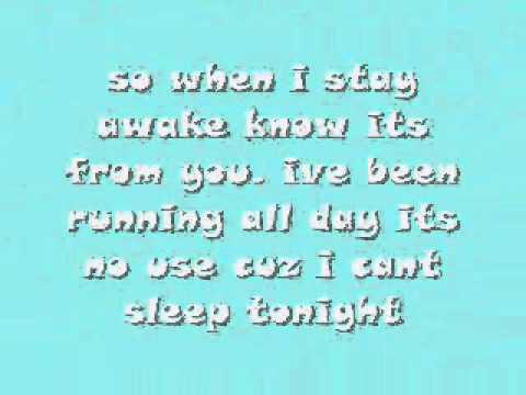 Cant Sleep Tonight lyrics By: Allstar Weekend