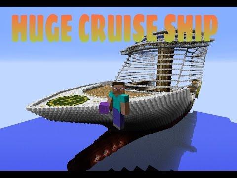 Minecraft Giant Cruise Ship Tour Finish Up Yatcht  YouTube