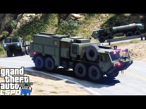 GTA 5 LSPDFR Police Mod 466 | Military Escort Patrol | Convoy Of M977 HEMTT Heavy Transport Trucks