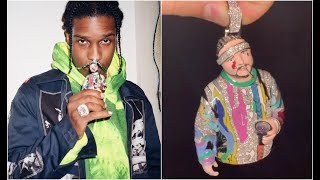 Drake Gifts ASAP Rocky A Diamond ASAP YAMS Chain On Yams Day 2020