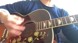"""スリーコードの歴史的名曲。RCサクセションの「あふれる熱い涙」を弾き語ってみました。よろしくお願いします(^^) 使用ギター/Gibson J200 """"The 64"""""""