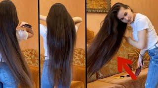 تطويل الشعر بوصفه خراااافية ✔✔توقف التساقط ✔وتنبت الفراغات ✔وتقوي الجذور ١٠٠% / تطويل الشعر طبيعي ✔