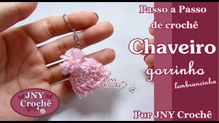 Chaveiro Gorrinho mini de crochê por JNY Crochê