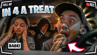 I GAVE MY FRIENDS CHINO & VALENTINE A EDIBLE WITHOUT THEM KNOWING TO SEE HOW HE REACTS!!