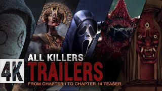 Dead by daylight All Killers Trailers | Chapter 1 - Chapter 14 Teaser | DBD Killer