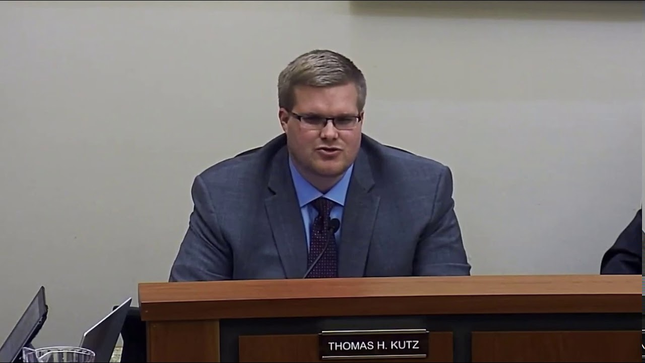 Kutz Gives Commissioner's Report at Feb. 10 Meeting