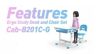 Ergo Study Desk and Chair Set for Kids - PrimeCables®