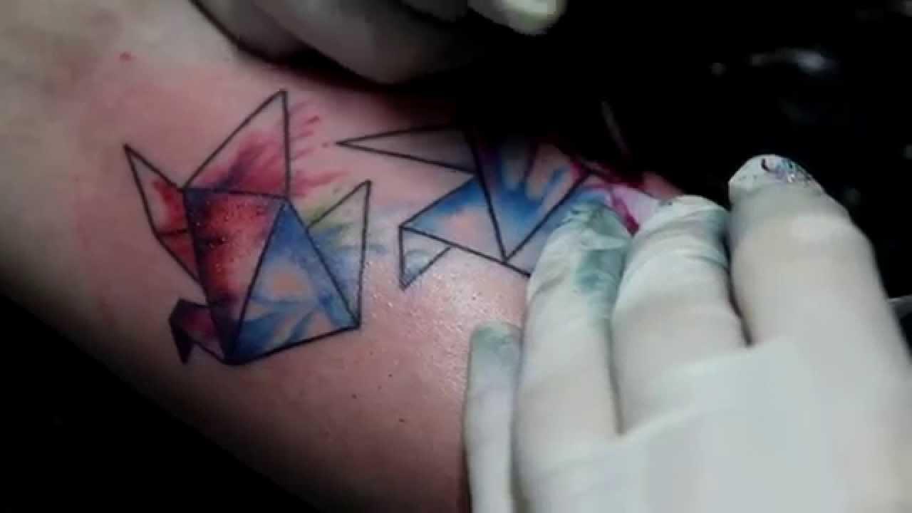 Watercolor Tattoo - Studio Pedro Neves Tattoo - YouTube